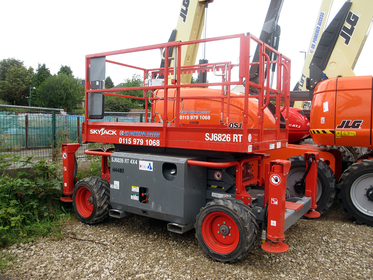 Hire Skyjack SJ6826/32 Rough Terrain Scissor Lift 9 8m/11 6m