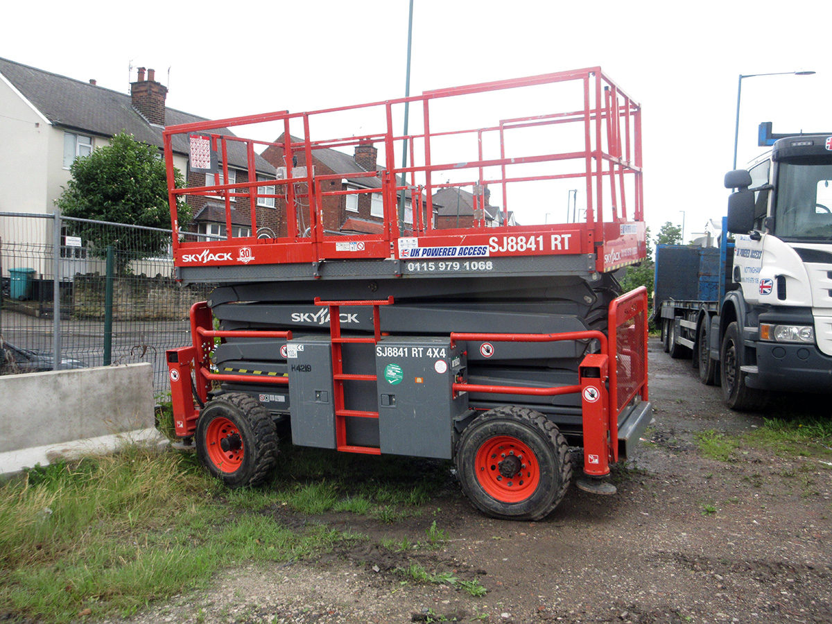 Hire Skyjack SJ8831/41 Rough Terrain Scissor Lift 11 3m/14 3